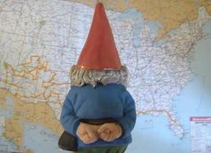 8. In the Land of the Gnomes ~ The Traveling Gnome is checking out the map to see where he's been and where he's going next!