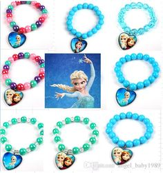 Online Cheap 2016 Sale!frozen Beads Charm Bracelet,Elsa/Anna Candy Color Baby Bracelets,Ice Snow Children Jewelry,Kids Bracelet,Fashion Jewelry..Jh By Angel_baby1989 | Dhgate.Com