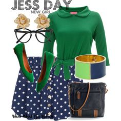 Inspired by New Girl character Jess Day played by Zooey Deschanel. <-- this green & blue color combo is the basis for my fall outfits