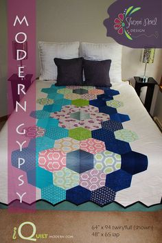 iQuilt Modern Modern Gypsy Quilt Pattern by RebeccaMaeDesigns