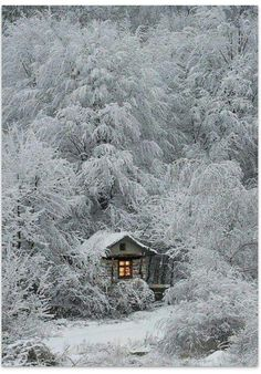 photography of a cabin in the snow. : Winter photography of a cabin in the snow.Winter photography of a cabin in the snow. : Winter photography of a cabin in the snow. Evening snowdrift aglow in Sundsandvik, Sweden Winter Szenen, I Love Winter, Winter Magic, Winter White, Snow White, Winter Fairy, White Light, Beautiful World, Beautiful Places