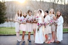 each bridesmaid picked her own dress | Images by FindOrion Photography