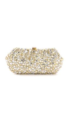 Santi Gold And Silver Jeweled Clutch - Beige | SHOPBOP.COM saved by #ShoppingIS