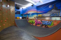 How about a rock-climbing wall and skateboard half pipe in your basement. This Hamptons home, completed in 2009, has been on the market for several years and is currently priced at 43.5 million.