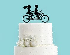 Bicycle Made for Two Wedding Cake Topper