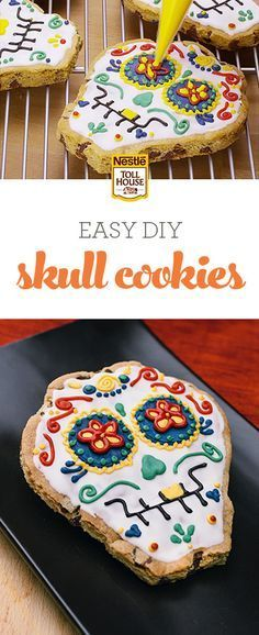 Looking for a fun, easy recipe to help you celebrate the tradition of Dia de los Muertos? Try these Skull Cookies, made from NESTLÉ®️️ TOLL HOUSE®️️ Refrigerated Chocolate Chip Cookie Bar Dough. From fun and simple to stunning and intricate, these treats can be decorated however you like. Add some festivity to your celebrations with a batch of Skull Cookies. See how they're made here, and get ready to decorate your own!