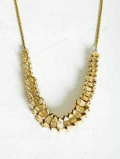 """Brass """"ancient tongues"""" necklace"""