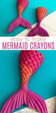 Learn how to make crayons shaped like mermaid tails! These are perfect for a mermaid birthday party. It's so easy once you know how to make crayons. Try these fun mermaid tails crayons. Kid's will love all the glitter! They are so pretty! Mermaid Birthday Cakes, Barbie Birthday Party, Birthday Crafts, Mermaid Birthday Party Decorations Diy, 4th Birthday, Glitter Birthday, 3rd Birthday Party For Girls, Birthday Ideas, Birthday Games