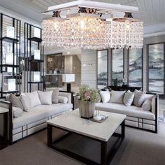 5 Heads Chandelier Contemporary Ceiling Light Elegant Crystal Pendant Light Home Decorative Lamp Modern Fixture lighting