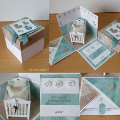 stampin up, baby, explosion box