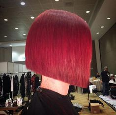 Beautiful red blunt bob. #hairdare #sexy #hairstyle