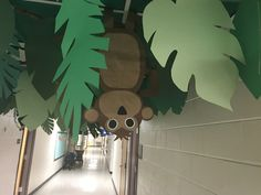 Monkey hanging upside down to add to our jungle theme! Jungle Theme Decorations, Jungle Theme Parties, Jungle Party, Safari Party, Safari Theme, Jungle Safari, School Decorations, Jungle Animals, Jungle Theme Crafts
