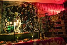 Walking Dead ispired Halloween Party decoration 2015