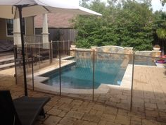 Brown/Tan Pool Safety Fence in Memorial, Houston, Texas
