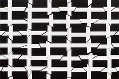 Esther Stocker. Untitled - acrylic on cotton
