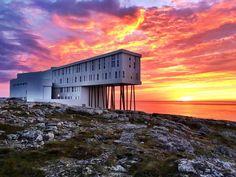 Photo of the Fogo Island Inn in Newfoundland, Canada Fogo Island Newfoundland, Newfoundland Canada, Fogo Island Inn, My Road Trip, Wild Weather, Photo Series, Canada Travel, Where To Go, East Coast