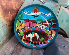 90 Day Plan, Hacienda Style, Pottery Plates, Primitive Decor, Spanish Style, North Africa, Plates On Wall, Storytelling, Etsy Seller