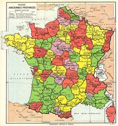 Map of France Ancient Provinces Old World Maps, Old Maps, Antique Maps, Paris, France Map, French History, Map Globe, Historical Maps, World History