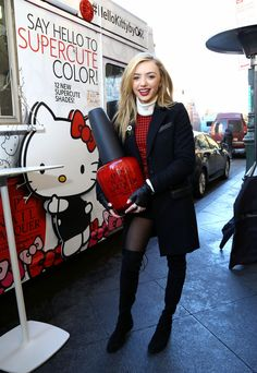 Peyton List – 'Hello Kitty by OPI' Collection Launch in New York City 1/21/2016 `tls