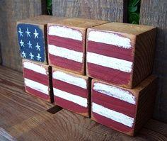 Blocks:  flag on blocks
