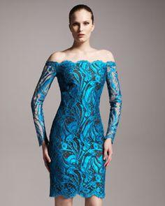 Emilio Pucci Off-the-Shoulder Lace Dress 2012