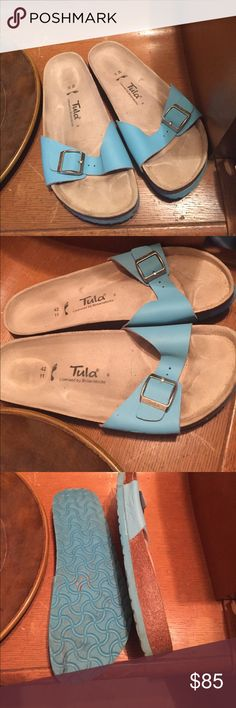 Birkenstock Tula slip on sandals size 11/42 EUC These are in great shape as shown. Only worn a couple times. No trades. Birkenstock Shoes Sandals