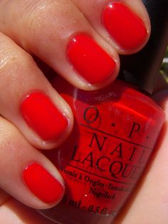 O.P.I -Big Apple Red.. it's my favorite.