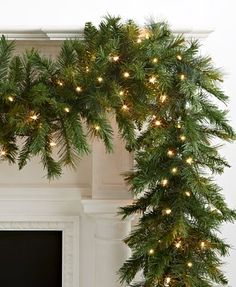 Курт Адлер 9 'Pre-Lit Classic Garland & Отзывы – All Holiday Lane – Главная – Macy's Christmas Fireplace, Christmas Porch, Christmas Mantels, Noel Christmas, Green Christmas, Outdoor Christmas, Country Christmas, Winter Christmas, Christmas Lights