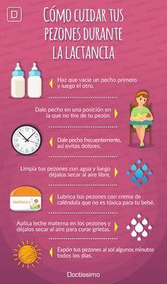 Cómo cuidar tus pezones durante la lactancia. #bebé #maternidad #embarazo