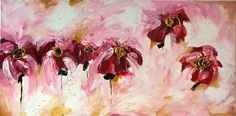 Abstract flower painting by Maryam B Kovanen