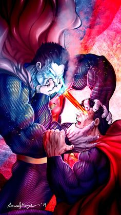 "youngjusticer: ""I'm Superman, and Bizarro is college. Bizarro, by Romeo Gonzales. Arte Do Superman, Mundo Superman, Batman Vs Superman, Superman Stuff, Spiderman, Comic Book Characters, Comic Character, Comic Books Art, Comic Art"