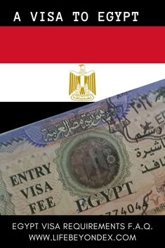 Up-to-date Egypt visa regulations and requirements. Who needs a visa to Egypt? Do I need a visa to Egypt? Can I get a visa on arrival? What about E-visa to Egypt? How much is Egypt visa? Egypt visa fees. What if I break my visa to Egypt? Read answers to these questions from www.lifebeyondex.com Everything about visa to Egypt. Step-by-step instructions for E-visa to Egypt. How to get a visa on arrival. An Egypt visa. #Egypt #Egypte #Ägypten #visatoegypt #visitegypt #myegypt #evisa #travelegypt Egypt Information, Passport Information, Travel Advise, Travel Tips, Hurghada Egypt, Visit Egypt, Visa, Egypt Travel, Cairo