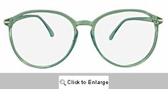 Kasey Big Round Glasses - 535 Blue
