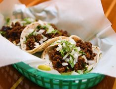 Amazing Spicy Sweet Tacos with Lime Sour Cream are bursting with flavor and has a unique twist on your average taco recipe. It is hands down the best taco recipe ever! Mexican Dishes, Mexican Food Recipes, Dinner Recipes, Mexican Entrees, Lunch Recipes, Carnitas, Top Recipes, Cooking Recipes, Free Recipes