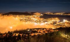 Se s? fint det var i Bergen i natt