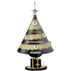 Pittsburgh Penguins Tree Shaped Bell Ornament