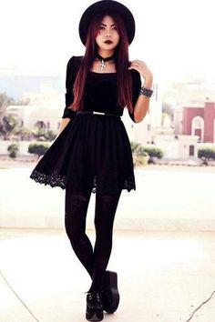 How to Dress Goth? 12 Cute Gothic Styles Outfits Ideas - Cute goth style outfit ideas Source by - Goth Look, Look Boho, Dark Fashion, Grunge Fashion, Nu Goth Fashion, Grunge Outfits, Cute Gothic Fashion, Cute Goth Outfits, Latex Fashion