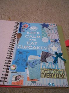 SMASH book - the blue page. It'd be fun to chose a color as a theme of your page :)