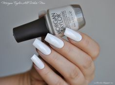 nailbamboo: Morgan Taylor All White Now and YSL # 26 Blanc Symboliste
