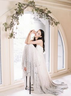 Dip dyed wedding dress | Blush Wedding Photography | see more on: http://burnettsboards.com/2014/10/unveiled-today-truvelles-2015-collection/