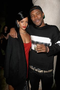 Rihanna and Frank Ocean at the GQ Men of the Year party in Los Angeles, November 2012.