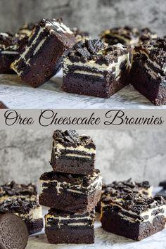 Best Cheesecake, Cheesecake Brownies, Cheesecake Recipes, Oreo Brownies, Chocolate Desserts, Easy Desserts, Delicious Desserts, Dessert Recipes, Fun Baking Recipes