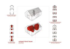 Compact Karst House,Diagram