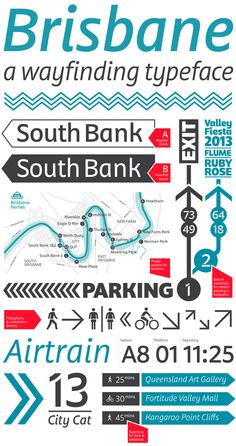 Brisbane, a wayfinding typeface by Troy Leinster, via Behance