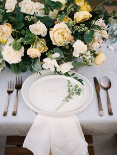 Organic Vineyard Wedding Inspiration - http://www.stylemepretty.com/2015/11/13/organic-vineyard-wedding-inspiration/