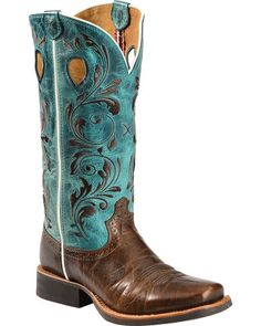 Twisted X Ruff Stock Turquoise Embroidered Cowgirl Boots - Square Toe, Chocolate Kids Western Boots, Womens Cowgirl Boots, Western Shoes, Cowboy Shoes, Kids Boots, Western Wear, Western Outfits, Women's Shoes, Westerns