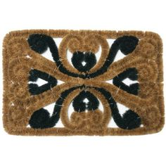 """""""Marbella"""" Outdoor Scraper Door Mat - 16"""" x 24"""" Coco Coir Mat by Rubber-Cal. $44.90. Our durable """"Marbella"""" boot scraper mat is made with all-natural coir fiber for durability and affordability! This all-weather entrance mat brings eco-friendly dust control to residential doorways and protects interior floors from incoming dirt and debris. Its rustic design is ideal for any residential front door! Simply shake, brush or vacuum this outdoor doormat for easy cleaning."""