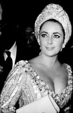 Elizabeth Taylor, in a Turban