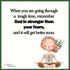 """""""God is stronger than your fears. Wise Quotes, Faith Quotes, Great Quotes, Motivational Quotes, Inspirational Quotes, Life Lesson Quotes, Life Lessons, Positive Affirmations, Positive Quotes"""