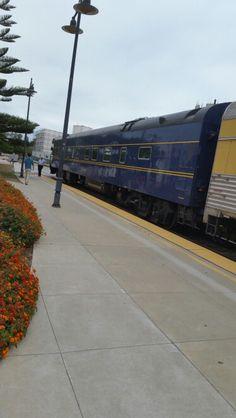 """Private Car """"Tioga Pass"""" on Train 14 at Santa Barbara"""